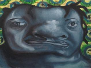 Self-Study 1, Oil paint